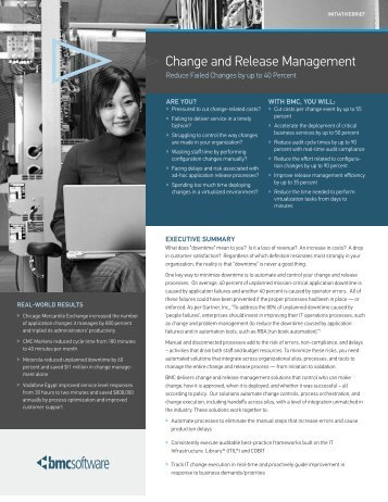 Change and Release Management Initiative Brief - RightStar