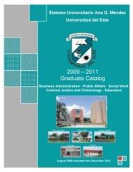2009 – 2011 Graduate Catalog