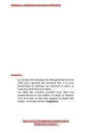 Séquence : la Révolution Française (1789-1815) - Histoire ...