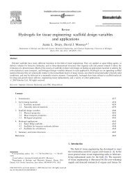 Hydrogels for tissue engineering: scaffold design variables and ...