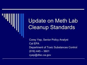 Update on Meth Lab Cleanup Standards