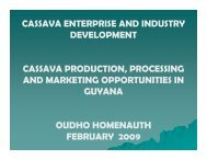 Cassava Production, Processing and Marketing ... - Narei