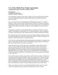 U.S., Peru Strike Free-Trade Agreement - Citizens Trade Campaign