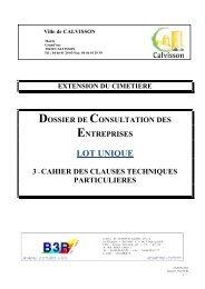 12117n – 3 – DCE-CCTP - Mairie de Calvisson