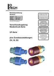 Niederdruck Kupplung, Serie UF, Rev-B - Carl Kurt Walther GmbH ...
