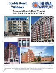 """series 700c 3-1/4"""" double hung (c60) - Thermal Windows, Inc."""