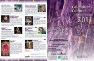 Calendrier Culturel - Accès Culture