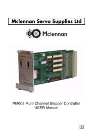 PM608 - Motion Controller Manual - Mclennan Servo Supplies Ltd.
