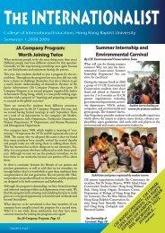 Internationalist Issue 11 Fall 2008 - College of International ...