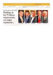 nota completa sobre el Ranking publicada en El Mercurioa