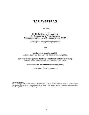 TARIFVERTRAG - Hplus