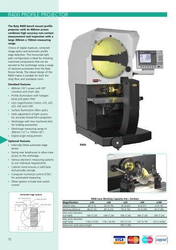 R400 PROFILE PROJECTOR - ITA
