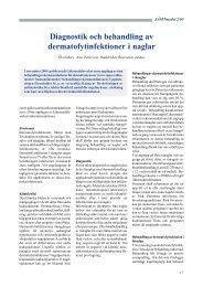 Diagnostik och behandling av dermatofytinfektioner i naglar - jll.se