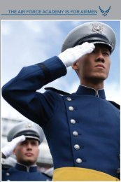THE AIR FORCE ACADEMY IS FOR AIRMEN