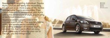 Reassuring. Energising. Individual. Toyota Auris ... - Accessories
