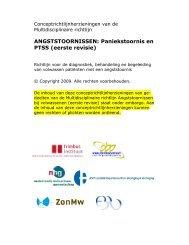 ANGSTSTOORNISSEN: Paniekstoornis en PTSS ... - GGZ-richtlijnen