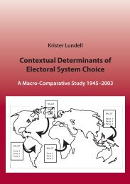 Contextual Determinants of Electoral System Choice - Åbo Akademi