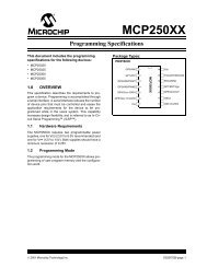 Programming Specifications - Microchip