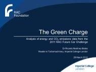 2011 Future Car Challenge Analysis - Botas - RAC Foundation