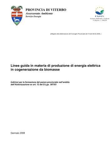Linee Guida - Provincia di Viterbo