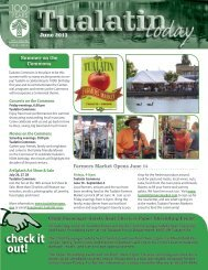 June 2013 Issue - City of Tualatin