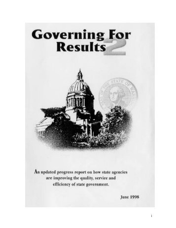 Governing for Results 2 - Washington State Digital Archives