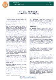 CM-CIC ACTIONS ISR - CM-CIC Asset Management