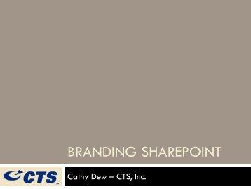 SharePoint Branding 101 – Toronto
