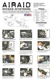 Installation Instructions Part Number 450-172 2005-09 Ford ... - Airaid