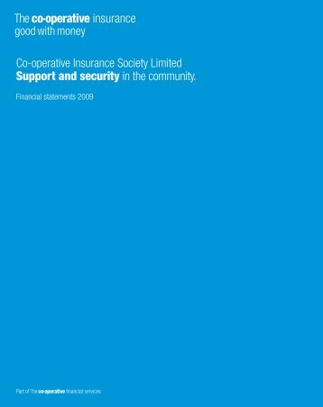 Financial Statements 2009 (PDF - 0.4MB) - The Co-operative ...