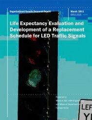 Life Expectancy Evaluation and Development of a Replacement ...