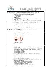 Tioacetamida MSDS - CTR Scientific