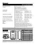 Rinnai RL75e Spec Sheet - Alpine Home Air Products - Page 2