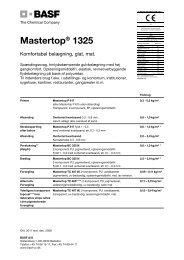 Mastertop® 1325 - Basf