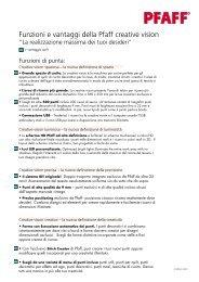 Funzioni e vantaggi della Pfaff creative vision - Macchine per Cucire ...