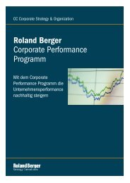Corporate Performance Program - Roland Berger