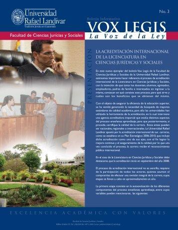 VOX LEGIS - Universidad Rafael Landívar