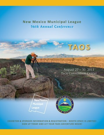 NMML-Taos Conference Exhibitor & Sponsor Brochure ...