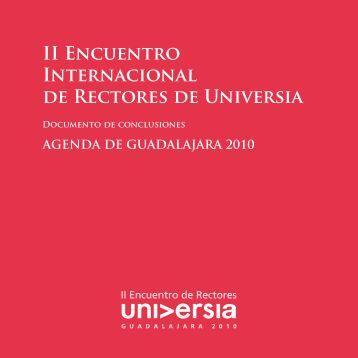 Agenda de Guadalajara - II Encuentro Internacional de Rectores