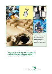 Expert recycling of electrical and electronic equipment
