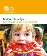 Glutarazidurie Typ I, ein Leitfaden für Eltern und Patienten - APD
