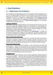 Hinweise zum Praktikum in Klasse 11 (FOG) - Alice-Salomon-Schule