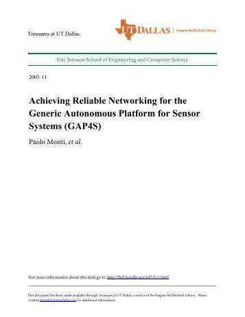 Achieving Reliable Networking for the Generic Autonomous Platform ...