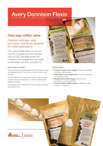 flexis air 2 way release avery dennison label and packaging