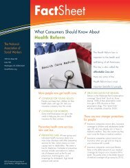 What Consumers Should Know About Health Reform - National ...