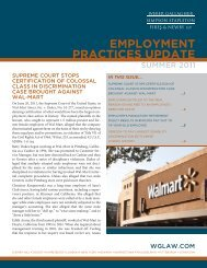 employment practices update - Weber Gallagher Simpson Stapleton ...
