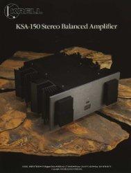 Krell KSA-150 at AllegroSound.com