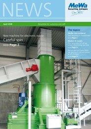Careful spin - MeWa Recycling Maschinen und Anlagenbau GmbH