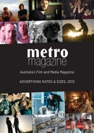 including advertising rates and deadlines - Metro Magazine