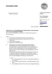 Briefbogen Institute mit Logo Headline 2zeilig - Universität zu Köln